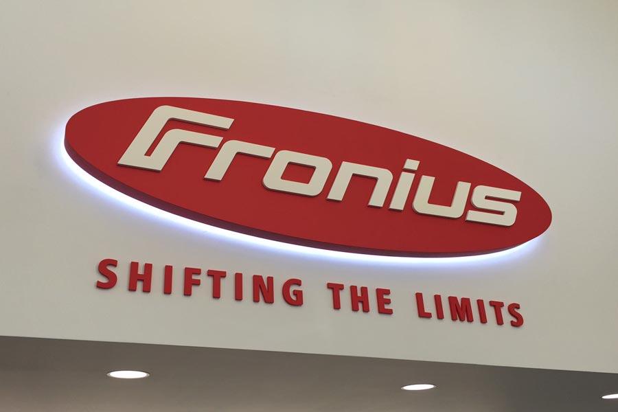 Fronius, Interior Signage, Entry Logo