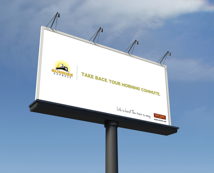 NICTD Billboard, Take Back Your Morning Commute