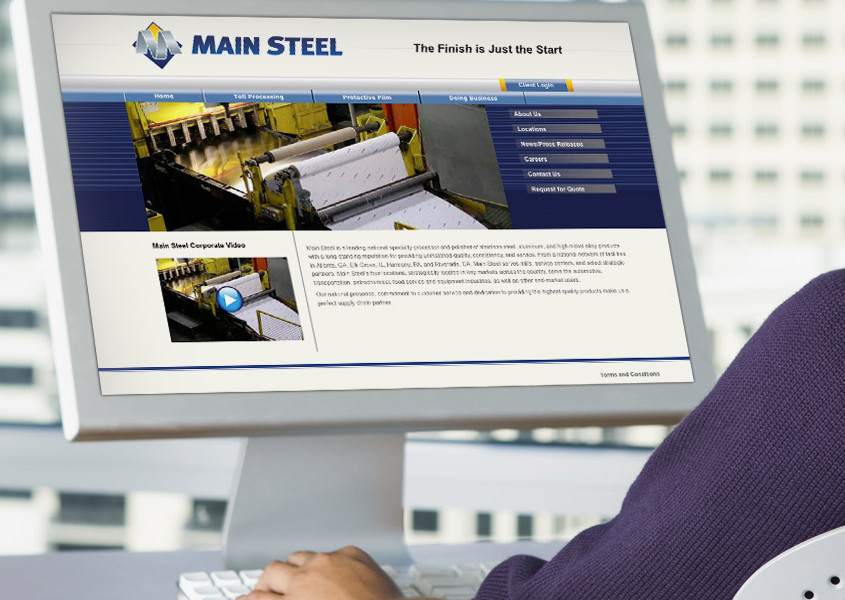 Main Steel Corporate Website